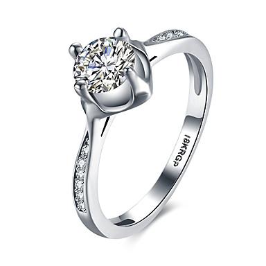 Γυναικεία Δαχτυλίδι Ασημί Cubic Zirconia Επάργυρο Κυκλικό Βασικό Καρδιά Γάμου Πάρτι Ειδική Περίσταση Καθημερινά Causal Κοστούμια Κοσμήματα