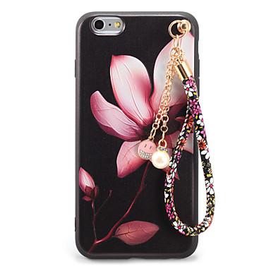 Için Süslü Temalı Kendin-Yap Pouzdro Arka Kılıf Pouzdro Çiçek Yumuşak TPU için AppleiPhone 7 Plus iPhone 7 iPhone 6s Plus iPhone 6 Plus