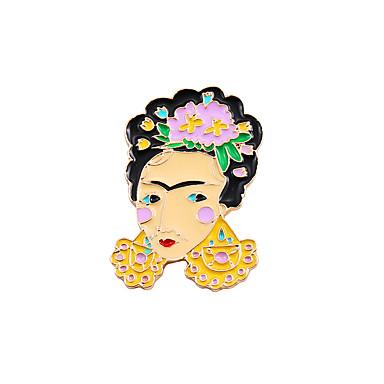 Pentru femei Fete Băieți Broșe Design Unic Prietenie Cute Stil Modă Email Aliaj Altele Auriu Bijuterii Pentru Nuntă Petrecere Ocazie