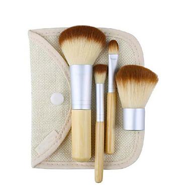 4szt Pędzle do makijażu Profesjonalny Zestawy Brush / Pędzelek do różu / Pędzelek do cieni Włosie synetyczne / Pędzelek z włókien