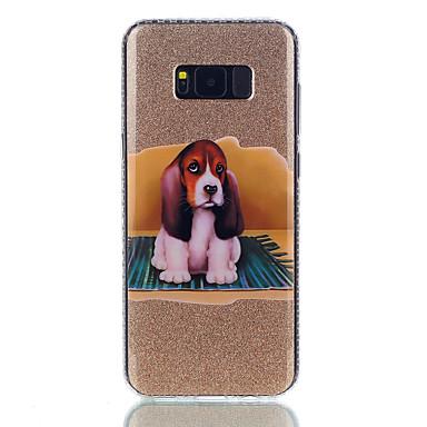 Kılıf Na Samsung Galaxy S8 Plus S8 IMD Wzór Etui na tył Pies Połysk Twarde PC na S8 S8 Plus S7 edge S7