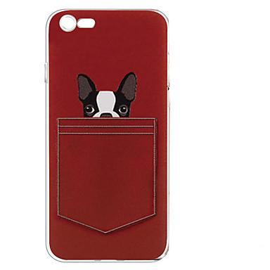 Για Με σχέδια tok Πίσω Κάλυμμα tok Σκύλος Μαλακή TPU για AppleiPhone 7 Plus iPhone 7 iPhone 6s Plus iPhone 6 Plus iPhone 6s iPhone 6