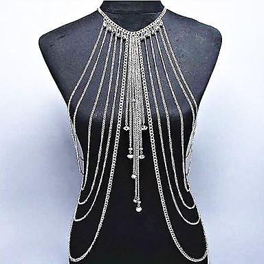 Kadın's Vücut Mücevheri Vücut Zinciri / Belly Chain Bohem Doğa Moda Kristal alaşım Mücevher Uyumluluk Özel Anlar Hediye Günlük