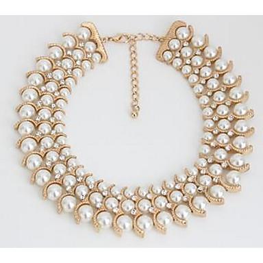 Damskie Naszyjniki z wisiorkami Pearl imitacja Imitacja pereł Modny euroamerykańskiej Gold Silver Biżuteria Na Specjalne okazje 1szt
