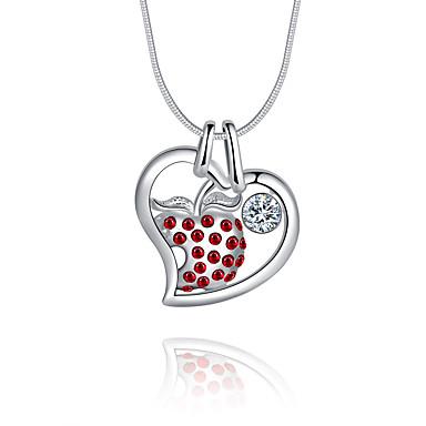 Naisten Heart Ylellisyys Uniikki Logo Roikkuva Love Riipus-kaulakorut Cubic Zirkonia Sterling-hopea Zirkoni Timanttijäljitelmä