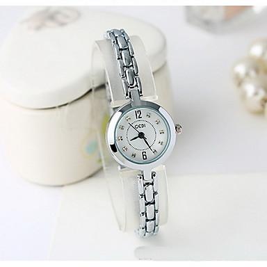 Damskie Modny Sztuczny Diamant Zegarek Kwarc japoński Wodoszczelny sztuczna Diament Stop Pasmo Z Wisorkami Nowoczesne Na co dzień Srebro