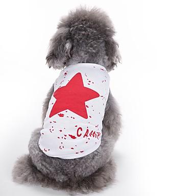 Koty Psy Yelek Ubrania dla psów Lato Gwiazdki Urocze Modny Codzienne Czerwony Niebieski Black