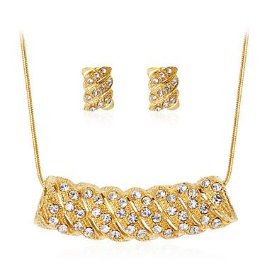 Naisten Korusetti Tekojalokivi Gold Plated Metalliseos Geometric Shape Klassinen Muoti Party Lahja Päivittäin Toimisto & ura 1 Kaulakoru