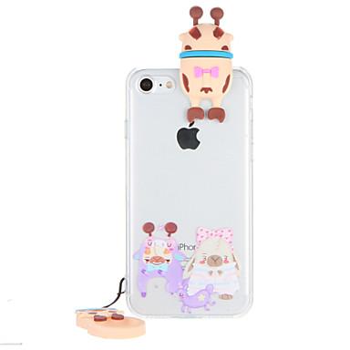 Pouzdro Uyumluluk iPhone 7 Plus iPhone 7 iPhone 6s Plus iPhone 6 Plus iPhone 6s iPhone 6 Apple Şeffaf Temalı Arka Kapak 3D Karikatür Sert