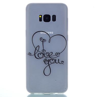 Maska Pentru Samsung Galaxy S8 Plus S8 Stralucire in intuneric Mătuit Translucid Model Carcasă Spate Inimă Moale TPU pentru S8 S8 Plus S7