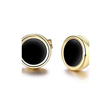 Γυναικεία Κουμπωτά Σκουλαρίκια Ακρυλικό Εξατομικευόμενο Κλασσικό Euramerican Μοντέρνα Ακρυλικό Χαλκός Οικολογικό υλικό 18K χρυσό