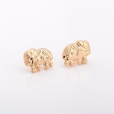 أقراط الزر مجوهرات تصميم الحيوانات موضة عتيقة euramerican في سبيكة Animal Shape ذهبي فضي مجوهرات إلى يوميا فضفاض 1 زوج