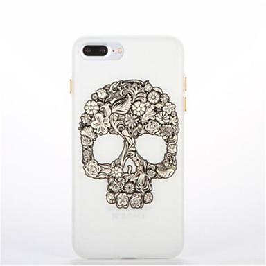tok Για Apple Λάμπει στο σκοτάδι Με σχέδια Πίσω Κάλυμμα Νεκροκεφαλές Μαλακή TPU για iPhone 7 Plus iPhone 7 iPhone 6s Plus iPhone 6 Plus