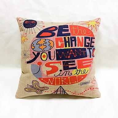 1 buc In Pernă Noutate Față de Pernă Pernă de Corp Pernă de Călătorii canapea pernele,Noutate Imprimeu Grafic Motto & Zicale