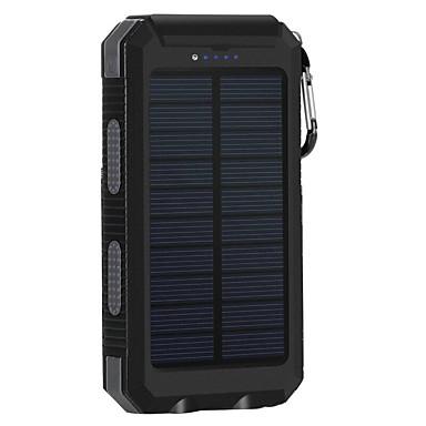 8000mAhgüç banka harici pil Güneş Enerjili Çok-Çıkışlı Fener 8000 2000 Güneş Enerjili Çok-Çıkışlı Fener