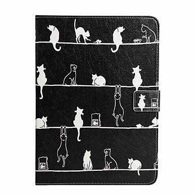 Uyumluluk Kılıflar Kapaklar Cüzdan Kart Tutucu Satandlı Flip Temalı Tam Kaplama Pouzdro Kedi Sert PU Deri için Samsung Tab A 10.1 (2016)