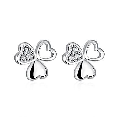 Pentru femei Fete Cercei Stud Cercei Dangle Cristal Inimă Argilă Heart Shape Geometric Shape Bijuterii Pentru Nuntă Petrecere Zilnic