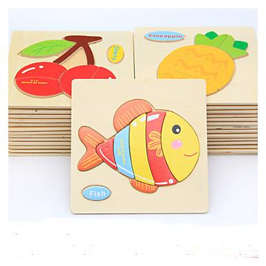 بطاقات تعليمية تركيب تركيب خشبي ألعاب الألغاز ألعاب تربوية سمك الحيوانات اصنع بنفسك كرتون للأطفال هدية