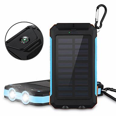 6000mAhالبنك طاقة البطارية الخارجية شحن شمسي مخارج متعددة ضوء فلاش 6000 2000 شحن شمسي مخارج متعددة ضوء فلاش