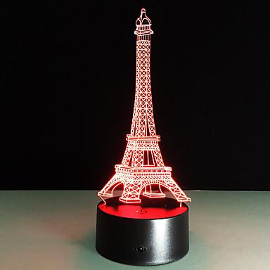 ρομαντικό France Eiffel 3d πύργο οδήγησε τη νύχτα φως rgb ευμετάβλητη διάθεση φωτιστικό usb φωτιστικό διακοσμητικό πίνακα τα παιδιά τους