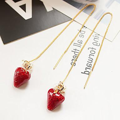 Kolczyki wiszące Kryształ Pearl imitacja Wiszący Stop Czerwony Biżuteria NaŚlub Impreza Specjalne okazje Urodziny Zaręczynowy Casual