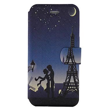 Için Kart Tutucu Satandlı Flip Temalı Pouzdro Tam Kaplama Pouzdro Eiffel Kulesi Sert PU Deri için Wiko Wiko Jerry Wiko Lenny 3