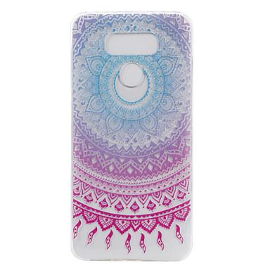 Για Διαφανής Με σχέδια tok Πίσω Κάλυμμα tok Λουλούδι Μαλακή TPU για LG LG G6 LG X Power