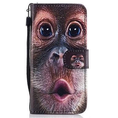 Etui Käyttötarkoitus Samsung Galaxy A5(2017) A3(2017) Lomapkko Korttikotelo Tuella Flip Kuvio Kokonaan peittävä Eläin Kova PU-nahka varten