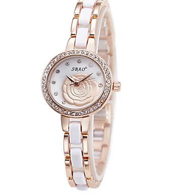 Damskie Modny Sztuczny Diamant Zegarek Kwarcowy Stop Pasmo Na co dzień Ekskluzywne Czarny Biały Brązowy Złoty Różowy Purpurowy