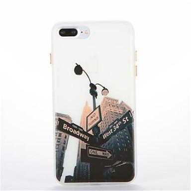 غطاء من أجل Apple يضوي ليلاً نموذج غطاء خلفي مع إطلالة على المدينة ناعم TPU إلى فون 7 زائد فون 7 iPhone 6s Plus iPhone 6 Plus iPhone 6s