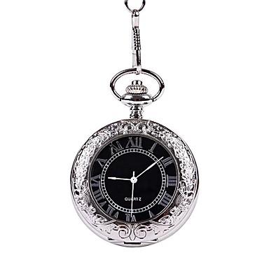 Ανδρικά Ρολόι Τσέπης Εσωτερικού Μηχανισμού κράμα Μπάντα Φυλαχτό Ασημί
