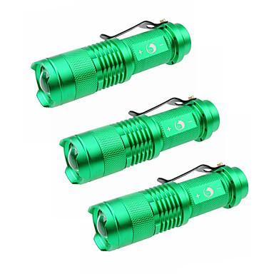 U'King LED taskulamput LED 1500 lm 3 Tila Cree XP-E R2 Zoomable Säädettävä fokus Telttailu/Retkely/Luolailu Päivittäiskäyttöön Ulkoilu