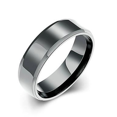 Damskie Obrączki Modny minimalistyczny styl Ślubny biżuteria kostiumowa Stal tytanowa Round Shape Biżuteria Na Ślub Impreza Specjalne