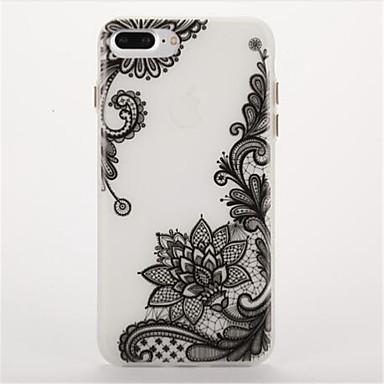tok Για Apple Λάμπει στο σκοτάδι Παγωμένη Ανάγλυφη Πίσω Κάλυμμα Λουλούδι Μαλακή TPU για iPhone 7 Plus iPhone 7 iPhone 6s Plus iPhone 6