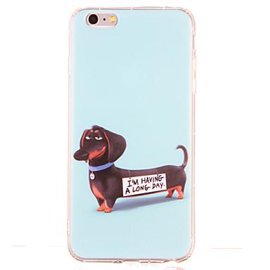 Pouzdro Uyumluluk Apple Şoka Dayanıklı Temalı Arka Kapak Köpek Yumuşak TPU için iPhone 6s Plus iPhone 6s iPhone 6 Plus iPhone 6 iPhone