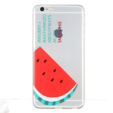 Pentru Model Maska Carcasă Spate Maska Fruct Moale TPU pentru Apple iPhone 6s Plus iPhone 6 Plus iPhone 6s iphone 6 iPhone SE/5s iPhone 5