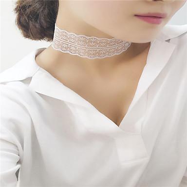 Dame Șuviță unică Modă Euramerican stil minimalist European Coliere Choker Bijuterii Dantelă Coliere Choker . Petrecere Ocazie specială