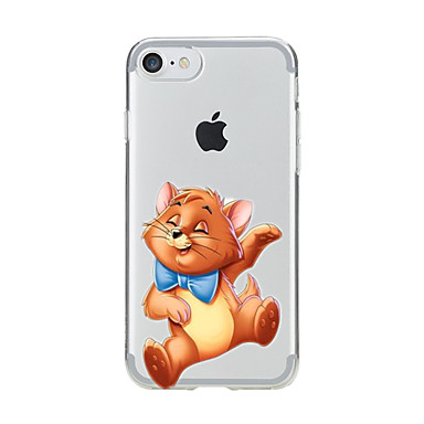 Maska Pentru Apple iPhone X iPhone 8 Transparent Model Capac Spate Pisica Moale TPU pentru iPhone X iPhone 8 Plus iPhone 8 iPhone 7 Plus