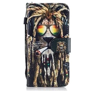 Maska Pentru Samsung Galaxy A5(2017) A3(2017) Titluar Card Portofel Cu Stand Întoarce Model Carcasă Telefon Animal Greu PU piele pentru