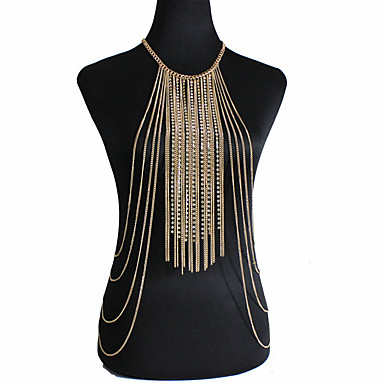 Kadın Vücut Mücevheri Vücut Zinciri / Belly Chain Doğa Moda Bohemia Stili Kristal alaşım Altın Mücevher Için Özel Anlar Günlük 1pc