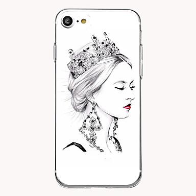 tok Για Apple Εξαιρετικά λεπτή Με σχέδια Πίσω Κάλυμμα Σέξι κυρία Μαλακή TPU για iPhone 7 Plus iPhone 7 iPhone 6s Plus iPhone 6 Plus