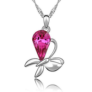Damskie Naszyjniki z wisiorkami Kryształ Flower Shape Biżuteria Kwiatowy Kwiat Kwiaty Biżuteria Na