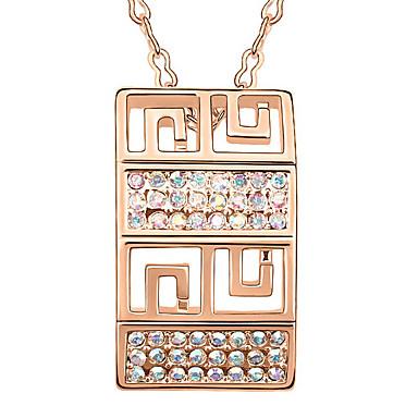للمرأة قلائد الحلي كريستال مستطيل كروم مخصص تصميم فريد مجوهرات من أجل الذكرى السنوية تهاني هدية