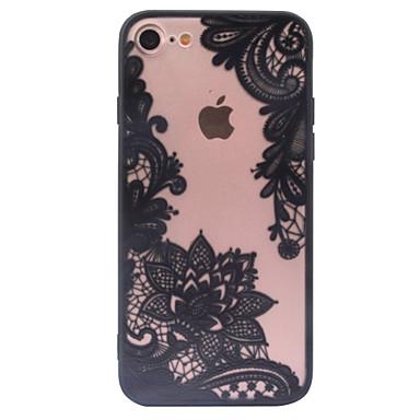 Kompatibilitás iPhone X iPhone 8 iPhone 6 iPhone 6 Plus iPhone 5 tok tokok Átlátszó Minta Hátlap Case csipke nyomtatás Kemény PC mert