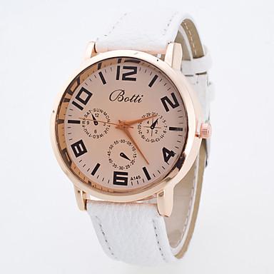 Bayanların Spor Saat Elbise Saat Moda Saat Bilek Saati Büyük Kadran Quartz Kumaş Bant İhtişam Çok-Renkli