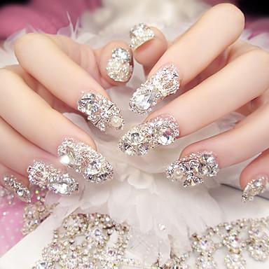 24pc dość modne ablaze lithodomous ślubne paski do paznokci