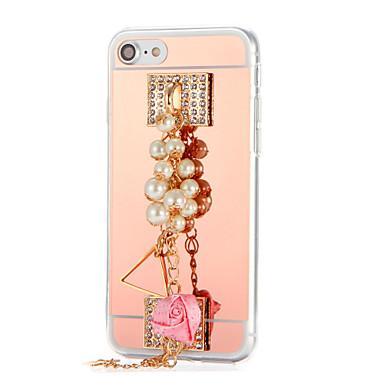 Varten Paljetti Pinnoitus Peili DIY Etui Takakuori Etui Kukka Kova Akryyli varten AppleiPhone 7 Plus iPhone 7 iPhone 6s Plus iPhone 6