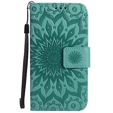 Etui Käyttötarkoitus Samsung Galaxy A5(2017) A3(2017) Korttikotelo Lomapkko Tuella Flip Koristeltu Suojakuori Kukka Kova PU-nahka varten