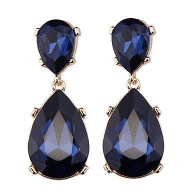 Damskie Kolczyki wiszące Biżuteria Artystyczny euroamerykańskiej Modny Syntetyczne kamienie szlachetne Chrom Inne Biżuteria Dark Blue