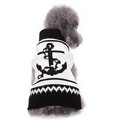 Kedi Köpek Kazaklar Köpek Giyimi Sevimli Günlük/Sade Moda Denizci Beyaz Kostüm Evcil hayvanlar için